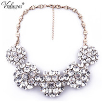 Fashion High Ultra-luxury Necklaces & Pendants Pure Crystal Statement Ne... - $14.88