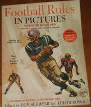 1969 Football Rules in Pictures Edited by Don Schiffer & Lud Duroska SC ... - $16.83