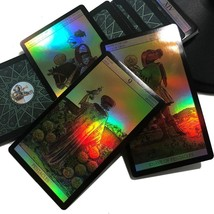 Holography 78 Cards Set Tarot Power Deck Card Game Multiple language Ver... - $13.85