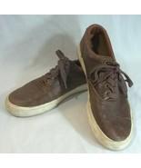 Polo Ralph Lauren Vaughn Leather Tennis Shoes Mens 8.5D Brown - $29.65