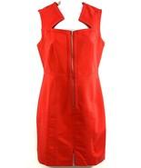 Venus Women's Size 6 Red Front Zip Neckline Cut Out Sleeveless Midi Leng... - $24.74