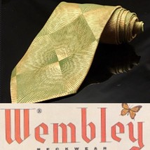 Vintage Wemlon by Wembley Green Trance Polyester Mens Short 70's  Neck Tie - $16.17
