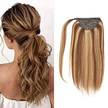 Lacer Balayage Blonde Ponytail Extension Clip in Ponytail Hair Extensions Remy H image 1