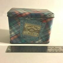 VTG Looney Tunes Blues Tin Metal Can Nelson Graphomania 1995 Warner Bros... - $14.60