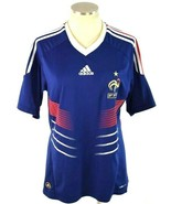 Adidas Soccer Jersey Mens M FFF Blue Clima Cool Football Shirt Mens Fren... - $19.79