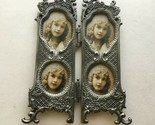 "Viintage Victorian Metal Frame 6""X4"" Pictures 2 X1.5""  Hinged Frame B11"