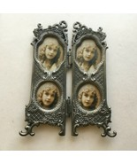 """Viintage Victorian Metal Frame 6""""X4"""" Pictures 2 X1.5""""  Hinged Frame B11 - $13.61"""