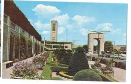 Canada Ontario Niagara Falls Rainbow Bridge Formal Garden Vintage Postcard - $4.99