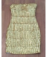 Ark & Co. Dress Size Small Strapless Gold Sequin - $49.50