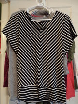 Notations Black & White Top - $4.25