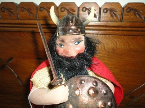 "Antique Denmark Viking Porcelain Doll Statue Figurine 8.25"" Hand Painted"