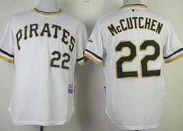 #22 Andrew McCutchen White Throwback Majestic Pittsburgh Pirates MLB Jersey - $37.99