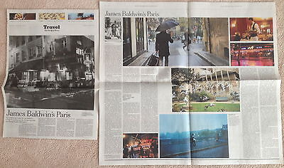 Primary image for James Baldwin's Paris clip/article - The New York Times Travel January 19 2014