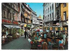 Copenhagen Denmark Vimmelskaftet Street View Outdoor Cafe Vintage Postcard - $4.99