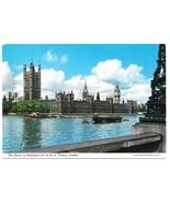 London GB Houses of Parliament Thames River Vintage Postcard 4X6 John Hinde - $4.99