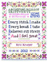 Every Stitch Sampler cross stitch chart Imaginating - €5,49 EUR