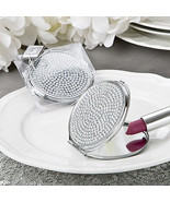 1 Bling Metal Compact Mirror Wedding Favor Bachelorette Fashion Accessor... - $5.72