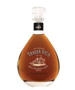 Trader Vic's Macadamia Nut Liquor Decanter Bottle Heavy Glass stopper Sh... - $25.73