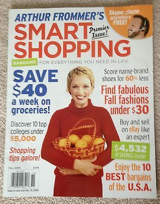 Primary image for Arthur Frommer's Smart Shopping Premier Issue Fall 2005 Saving Ebay Best Bargain