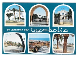 Africa Grombalia Tunisia Nabeul Multiview Vintage H. Ismail 4X6 Postcard - $4.99