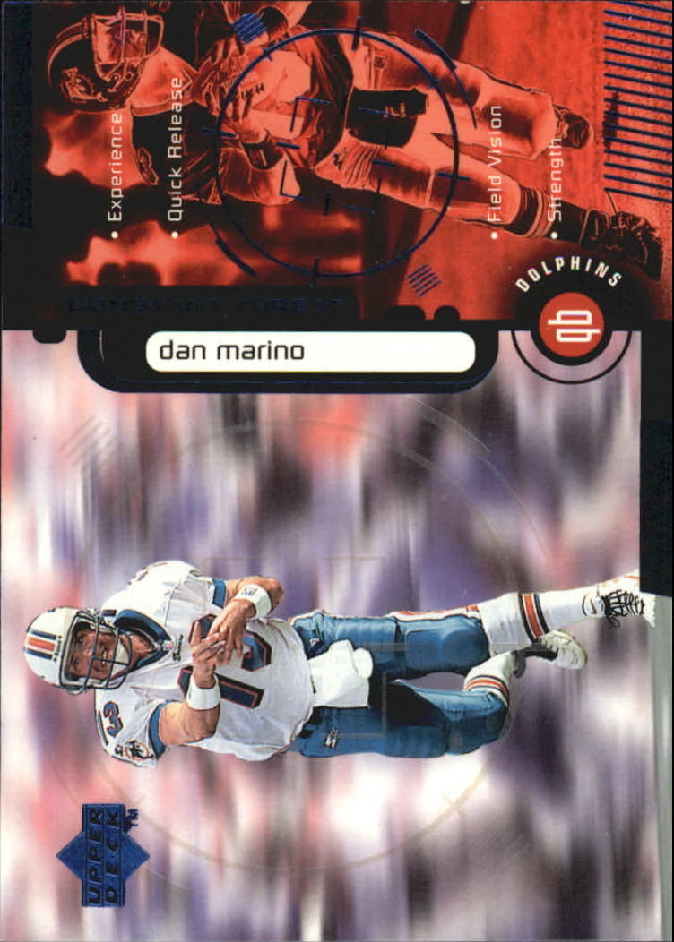 "Primary image for 1998 Upper Deck ""CONSTANT THREAT"" #CT1 Dan Marino -Miami Dolphins-Hall Of Fame-"