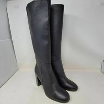 Kenneth Cole Womens Justin Knee High Boots Black Leather Block Heels 10 M New - $19.99
