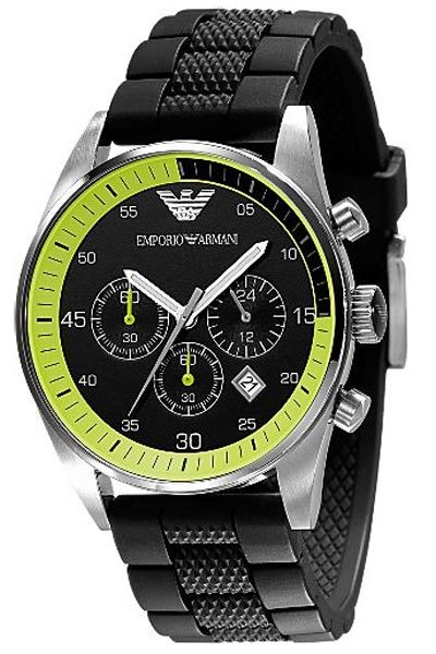 Primary image for EMPORIO ARMANI AR5865 MEN´S BLACK SPORTS WATCH