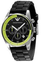 EMPORIO ARMANI AR5865 MEN´S BLACK SPORTS WATCH  - $162.99