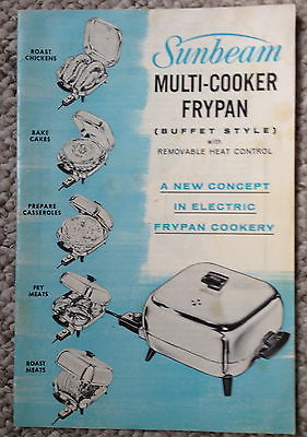 Primary image for SUNBEAM Multi Cooker Frypan Instruction Booklet - Buffet Style includes recipes