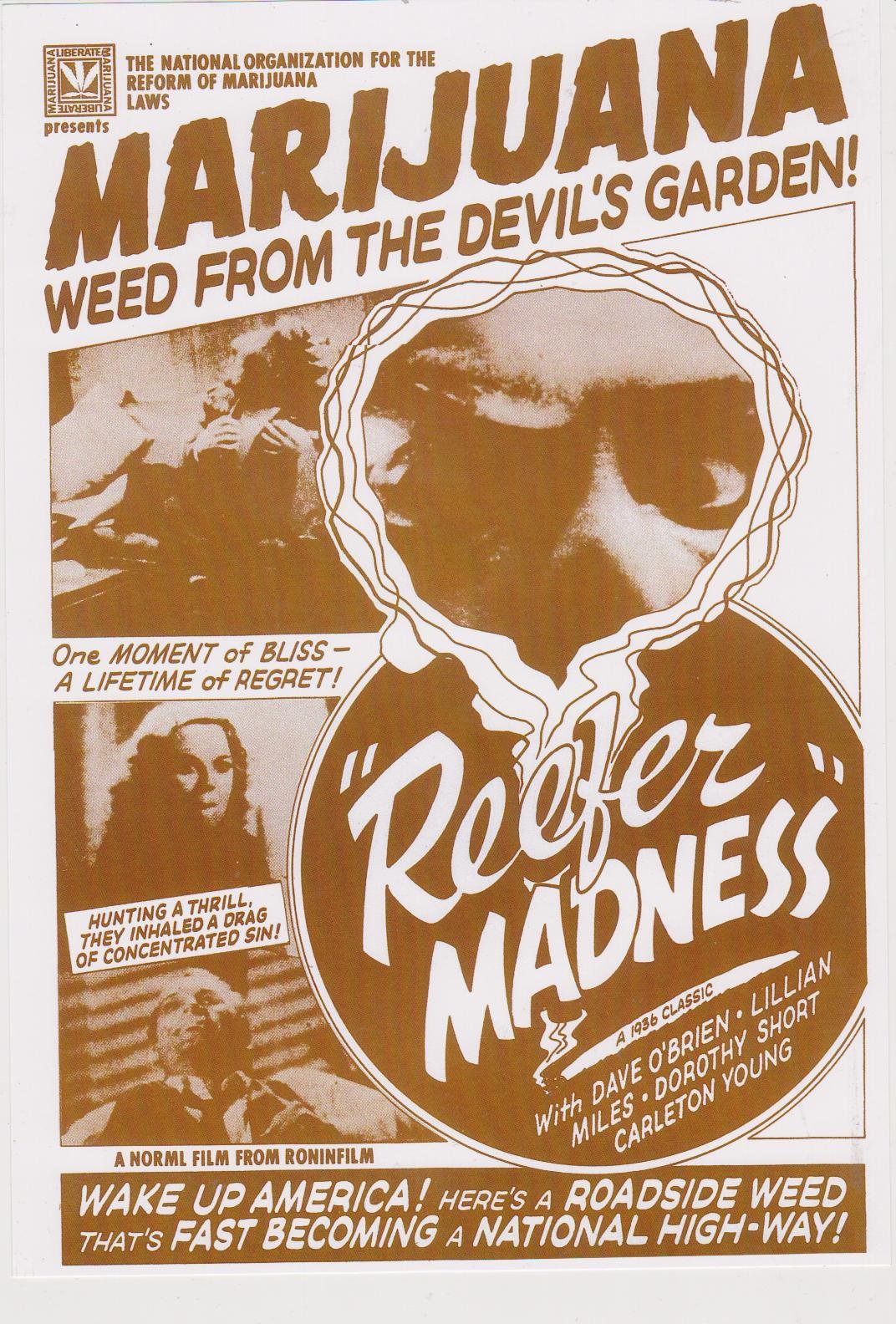 Primary image for Reefer Madness 8X10 Sepia Movie Memorabilia Photo