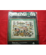 "DIMENSIONS CREWEL EMBROIDERY KIT.  CHARLES WYSOCKI."" TRADING POST""  NEW. - $20.00"