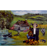 "Buddy Ebsen ""UNCLE JED COUNTRY"" Artist's Proof signed lithograph w/COA  - $300.00"