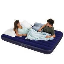 Intex Classic Downy Queen Airbed, Inflatable Air Mattress Bed For Campin... - ₨1,365.39 INR