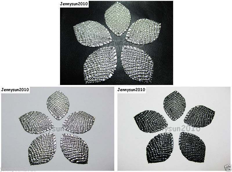 Primary image for 20pcs Leaf Carved Pendant Spacer Bead Metal Findings 24mmx36mm Pick Colors