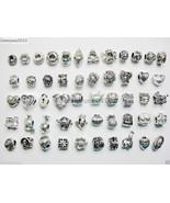 50Pcs Mixed Big Hole Tibetan Silver Charm Beads Fit European Bracelet & ... - $9.99