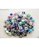 50Pcs Mixed Lampwork Murano Glass Charm Beads Fit European Bracelet or N... - $9.99