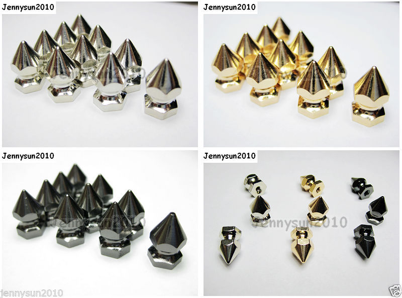 Primary image for 40pcs Multi Purpose Hip Hop Solid Heavy Metal Spike Studs Beads with Screw Back