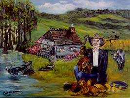 "Buddy Ebsen ""UNCLE JED COUNTRY"" framed A/P signed limited edition lithograph  w/ - $995.00"
