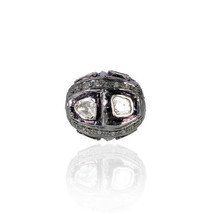 8MM Natural Rose Cut Diamond Bead Spacer Finding .925 Sterling Silver Je... - $185.75