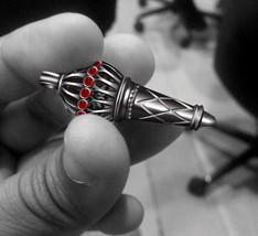 2.09Ct Red Garnet Bajrangi Bhaijaan Salman Khan Black GP 925 Silver Mens Pendant - $92.99