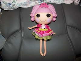 2009 Lalaloopsy Jewel Sparkles Doll Full Size Pink Hair With Crown Retired EUC - $21.36