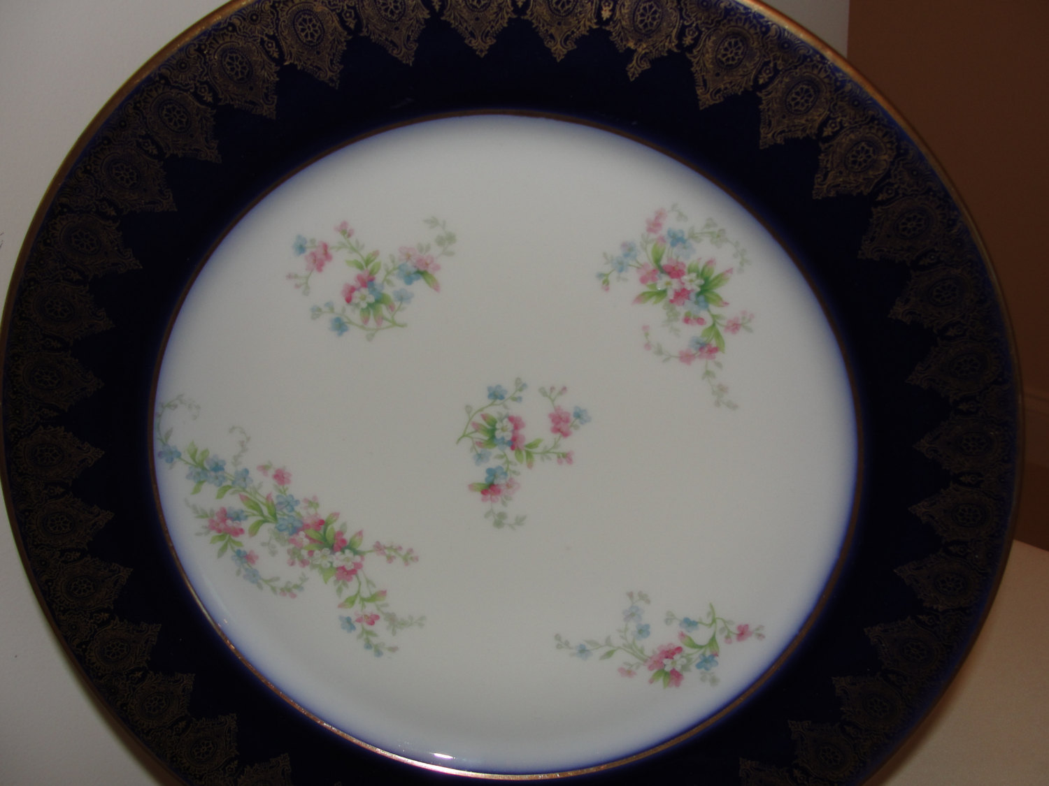 Primary image for Porcelain WIlliam Guerin & Co. Limoges France Gold and Cobalt Blue Charger Plate
