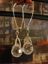 Vintage Swarovski Crystal Ball Drop 18K GP Earrings Heavy Solid Crystal - $36.00