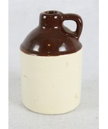 """Brown and White Pouring Stoneware Pottery Jar 4"""" - $14.84"""