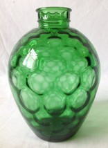 Vintage Tiffin Green Glass Apothecary Jar Decanter Bottle Honeycomb No S... - $24.95