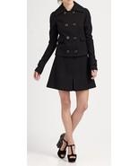 Rachel Zoe MYLAN Women Black Wool Lined A-Line Mini Short Skirt 10 - $79.99