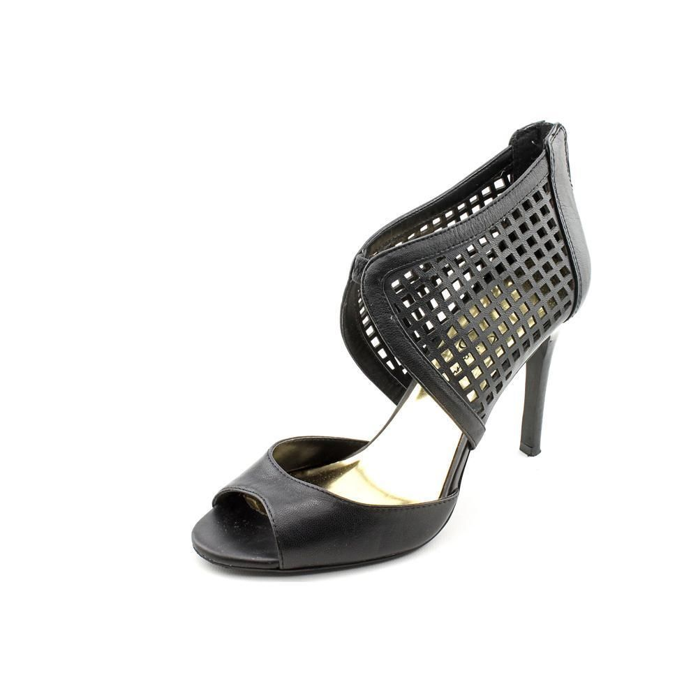 Primary image for Jessica Simpson Jersee Womens Black Leather Dress Sandals Heels Shoes 7.5