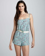 Marc By Marc Jacobs Womens Powder Blue Jamie Belted Jumpsuit Swimsuit Large - $59.99