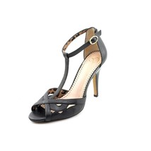 Jessica Simpson Jacine Womens Black Leather Ankle Strap Pumps Heels Shoe... - $44.79