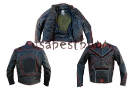Custom Handmade Men Motorcycle Leather Jacket, Biker Leather Jacket, Xme... - $169.99